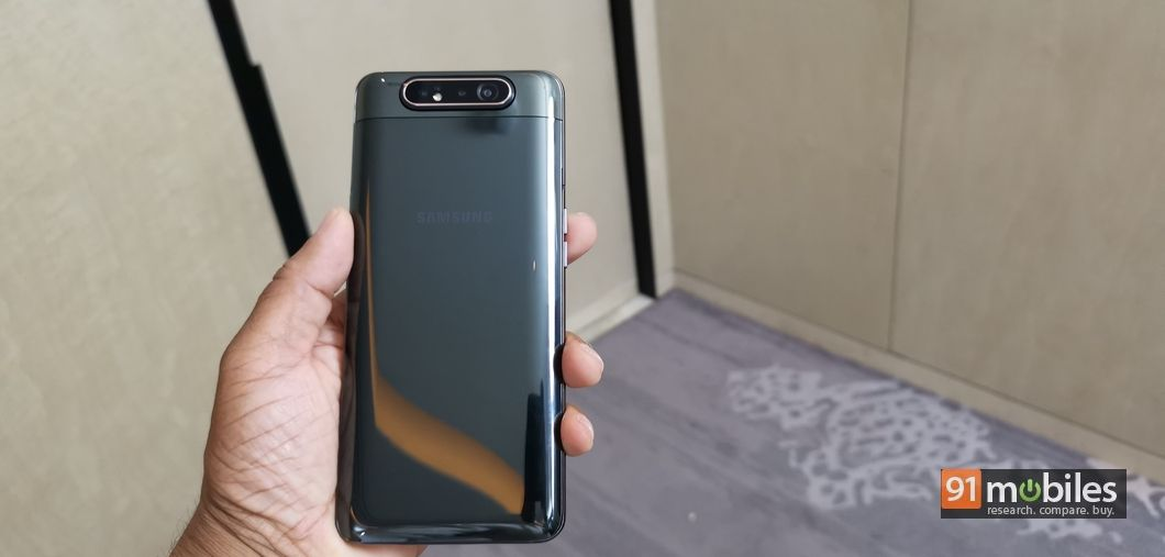 Samsung Galaxy A80 with rotating camera module and