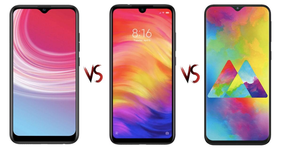 Tecno CAMON i4 vs Redmi Note 7 vs Samsung Galaxy M20: price