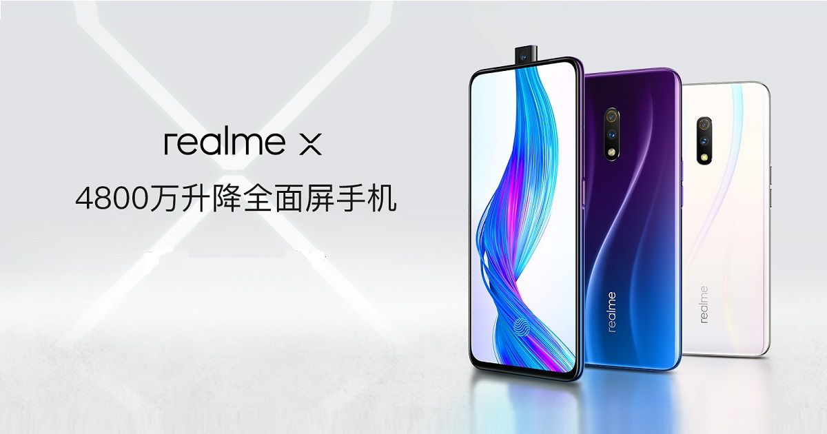 Realme X with pop-up selfie camera and in-display fingerprint sensor