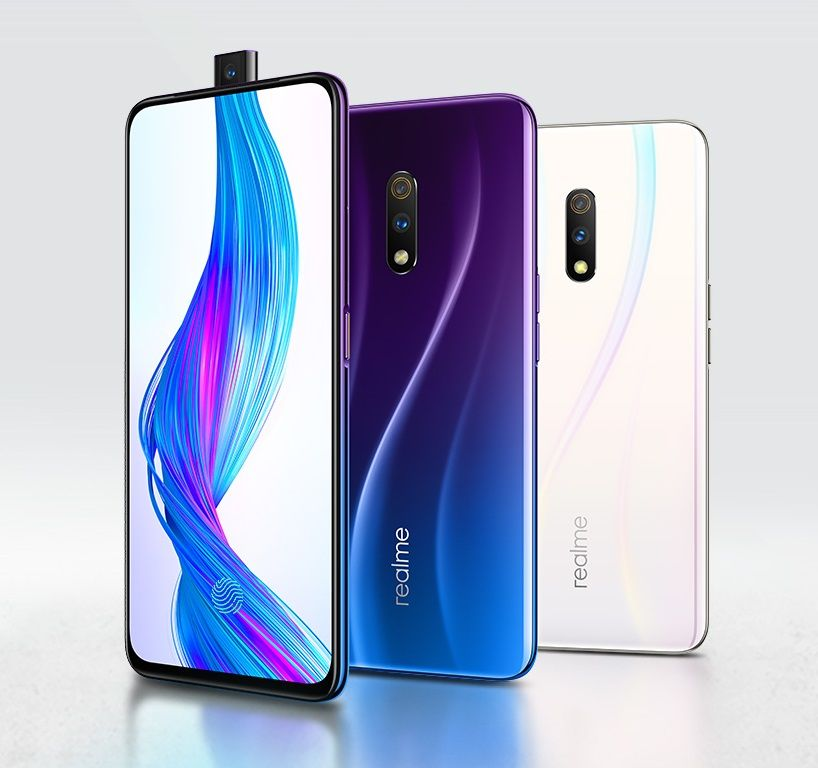 Realme X with pop-up selfie camera and in-display