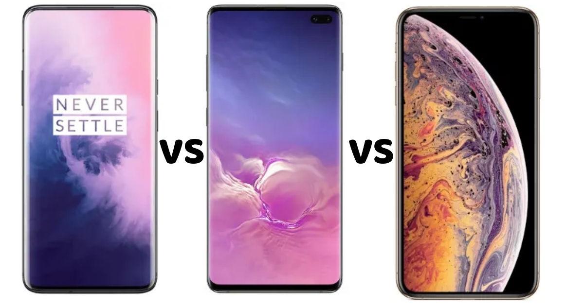 OnePlus 7 Pro vs Samsung Galaxy S10+ vs iPhone XS Max: price