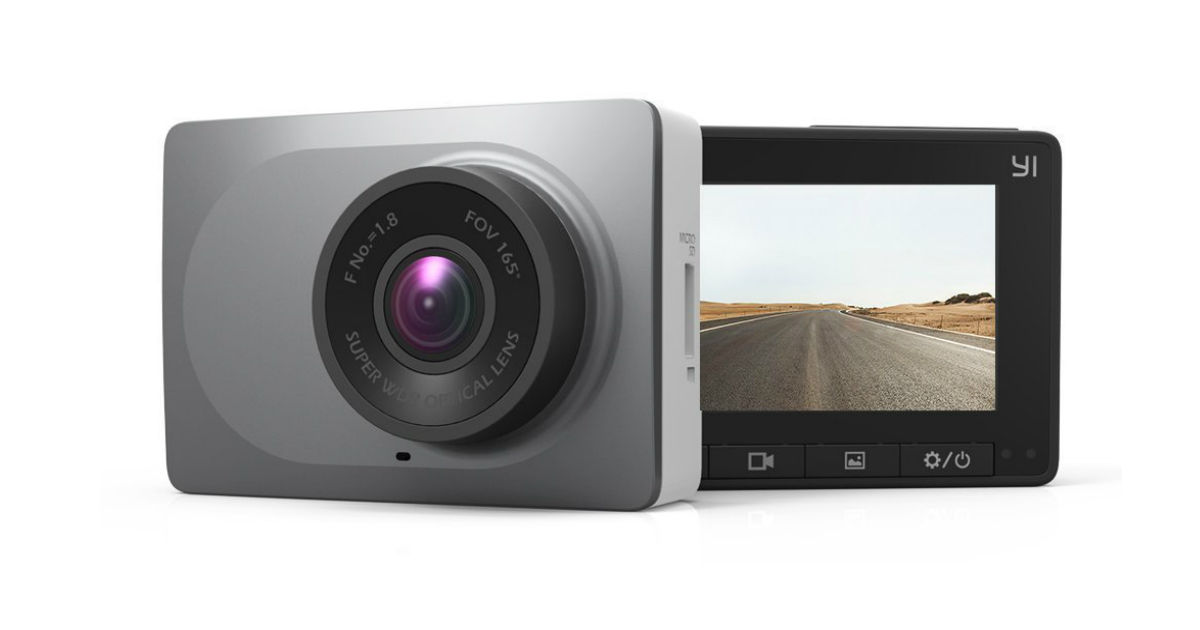 Yi Smart Dash Camera with 2 7-inch screen and wide-angle