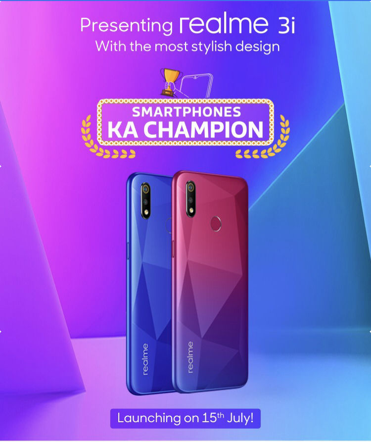 Realme 3i price in India may start around Rs 8,000