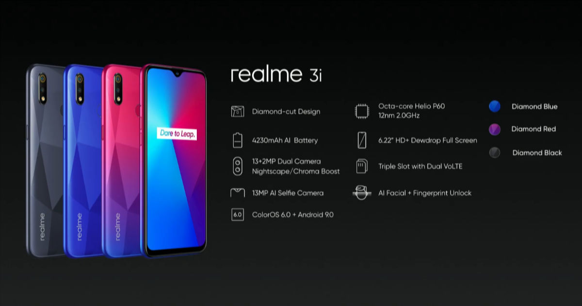 Realme 3i price in India and specifications announced, releasing on