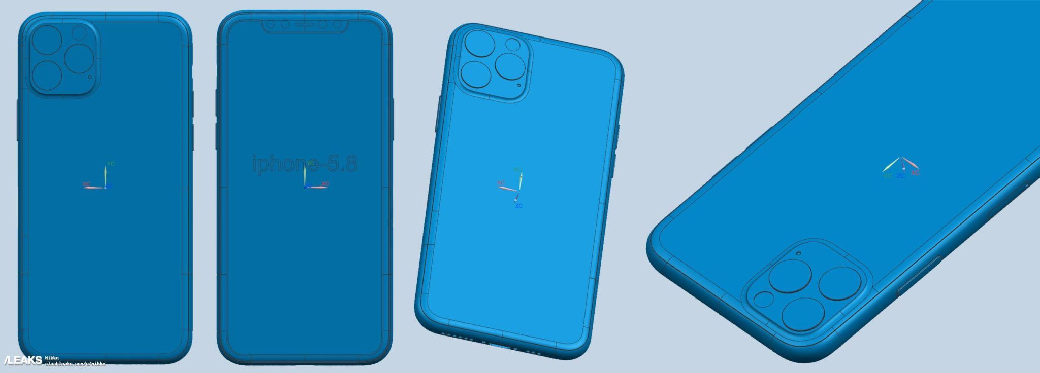 leaked iphone xi cad schematics