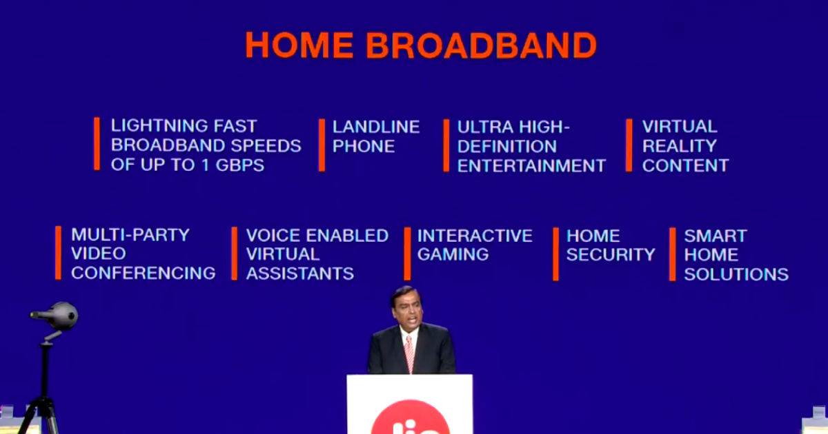 Jio Fiber remains behind 7 Star Digital and Spectranet in