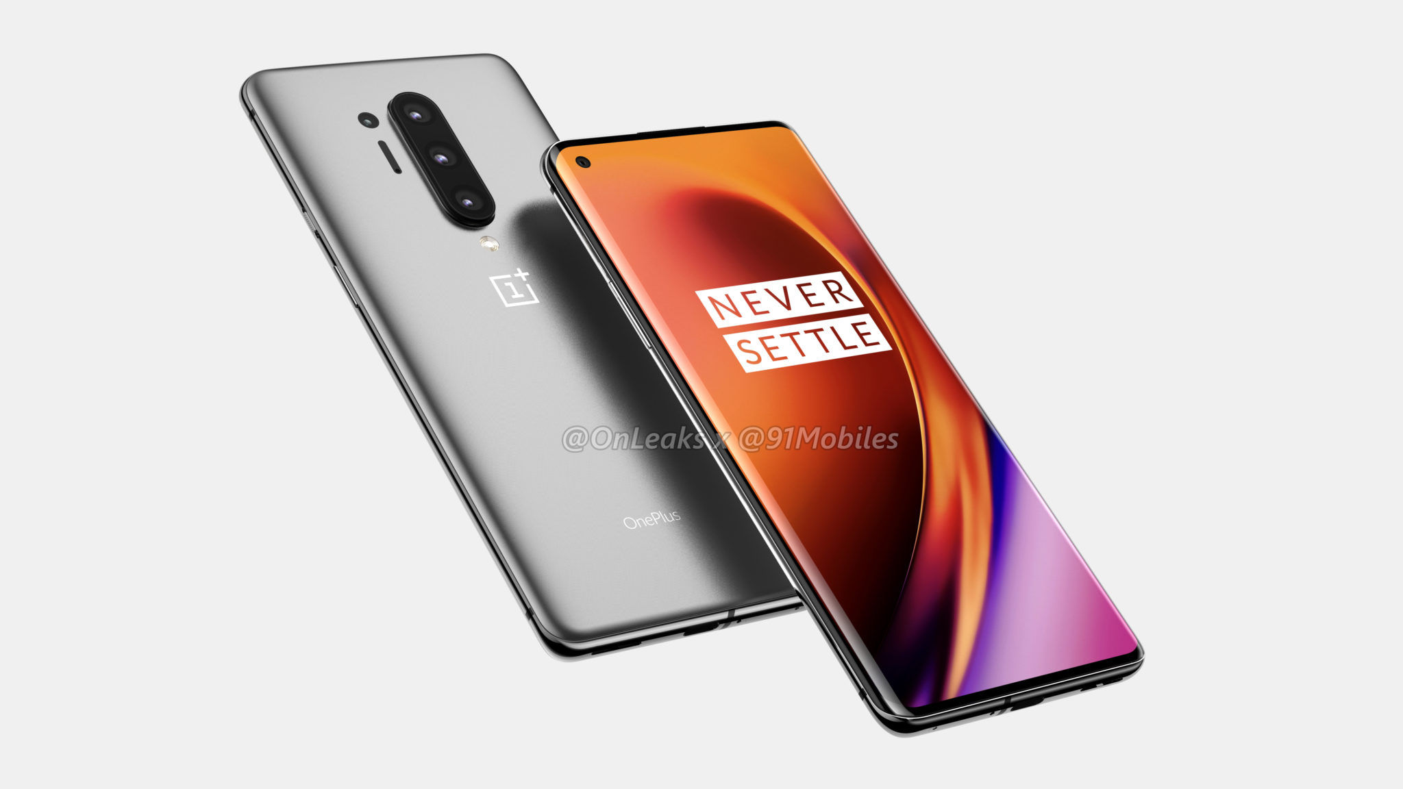 render image of the upcoming flagship phone-the OnePlus 8 Pro