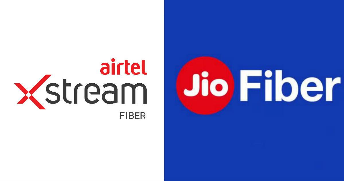 Airtel Xstream Fiber vs Jio Fiber broadband plans compared: speeds, bundled  data, freebies, and more | 91mobiles.com