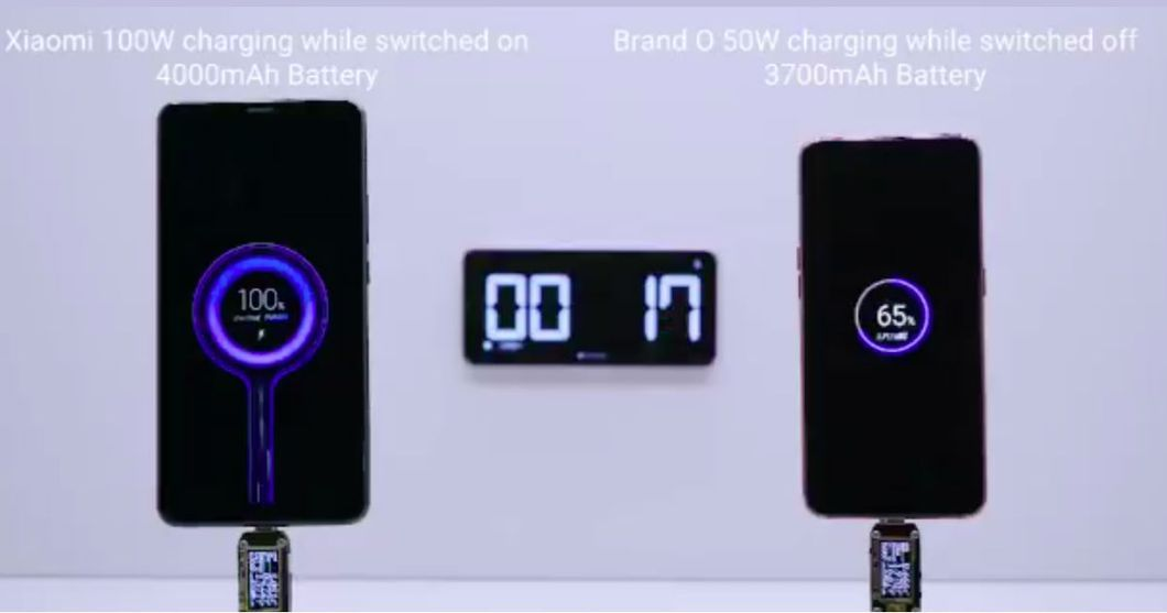 100W fast-charging