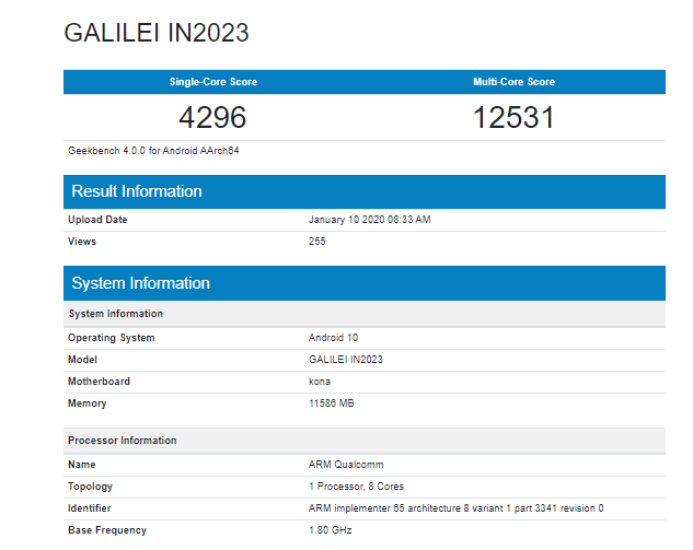OnePlus 8 Pro with 12GB RAM, Android 10 spotted on Geekbench