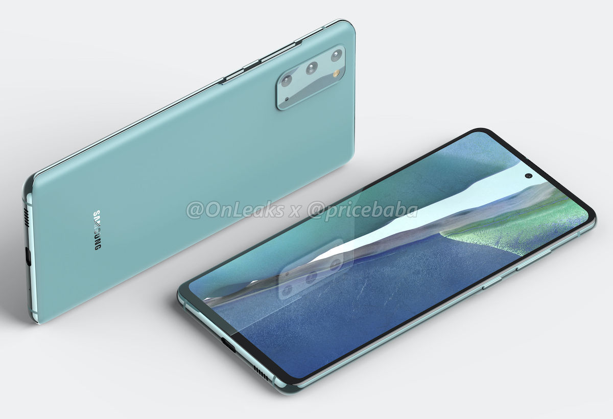 Samsung Galaxy S20 Fe 5g Renders Reveal Design Ahead Of Launch 91mobiles Com