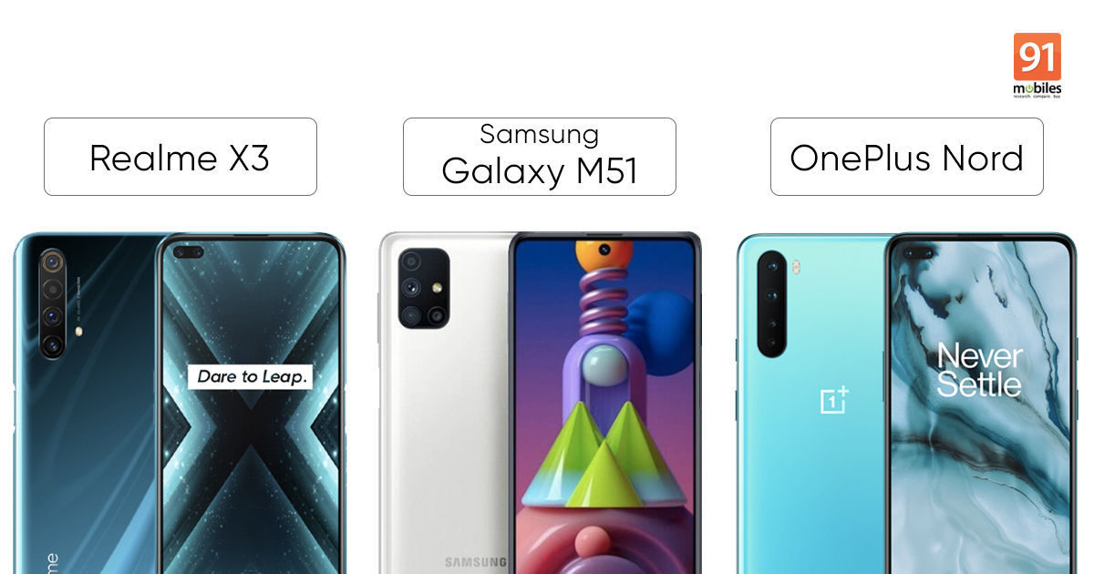 Blind Camera Comparison Samsung Galaxy M51 Vs Realme X3 Vs Oneplus Nord 91mobiles Com