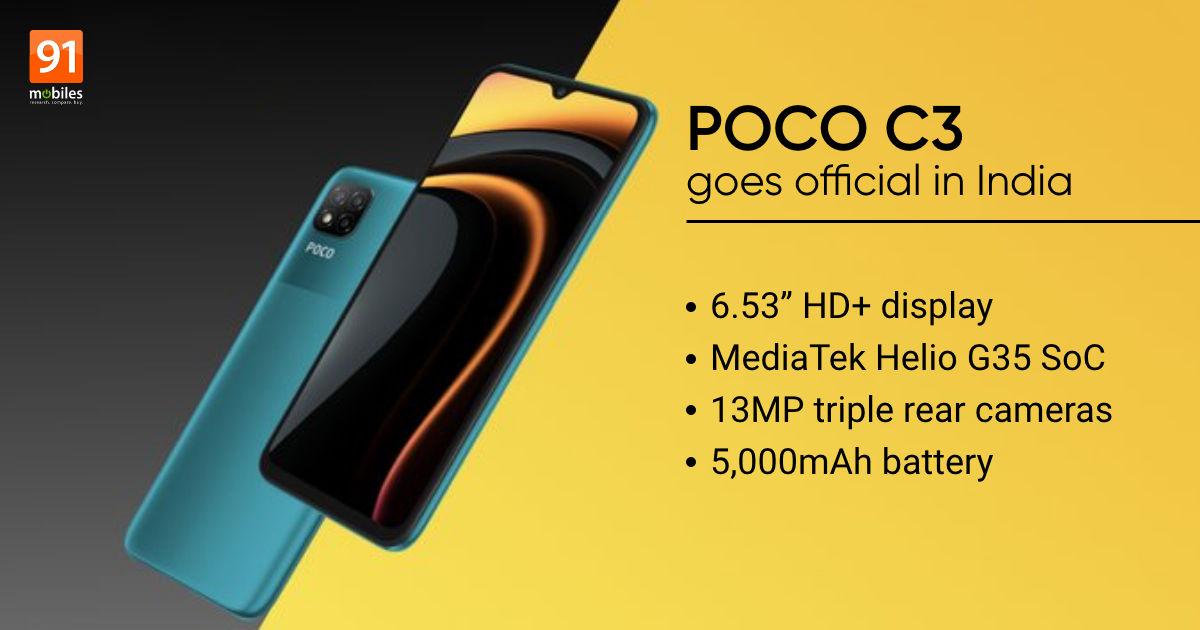 POCO C3 price in India, specs, Flipkart sale date | 91mobiles.com
