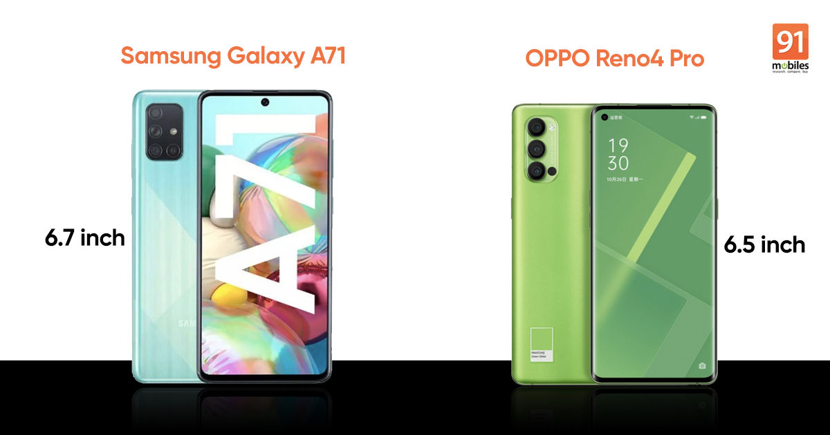 Samsung Galaxy A71 vs OPPO Reno4 Pro: The Galaxy A71 doesn't have to try hard to trump its rival