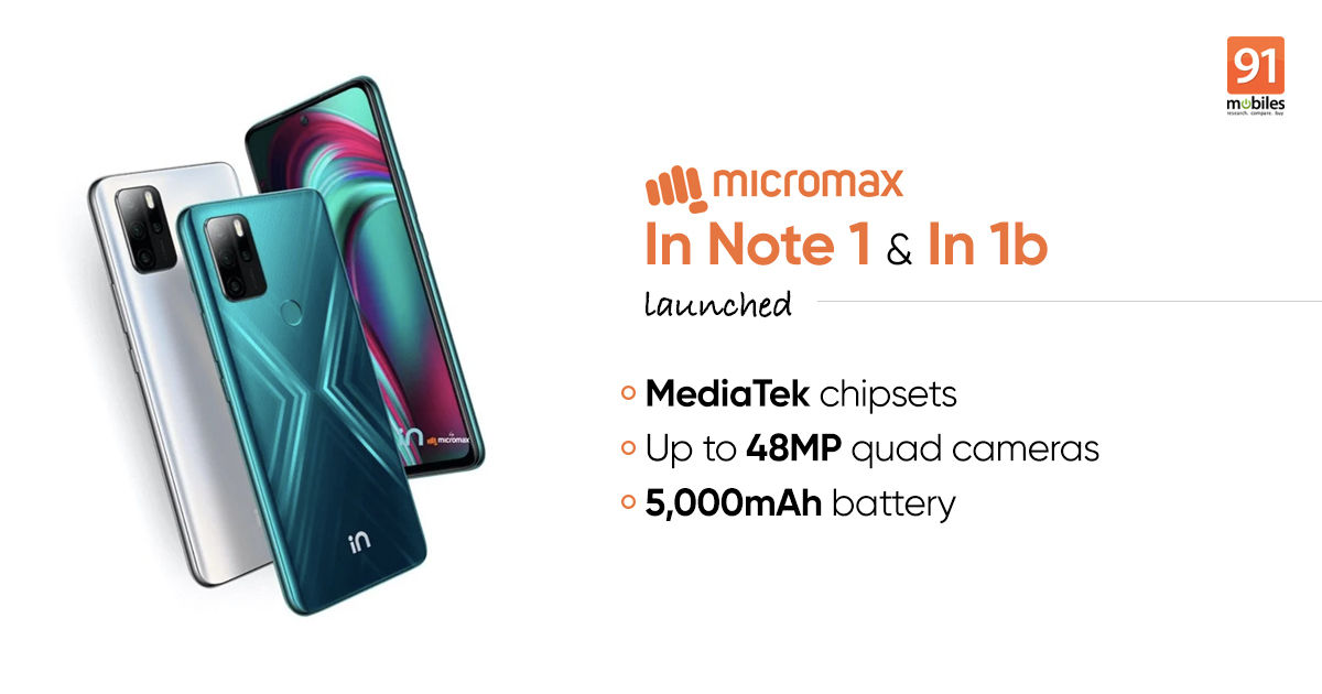 Micromax In Note 1 and In 1b prices in India announced: sale date, specs | 91mobiles.com