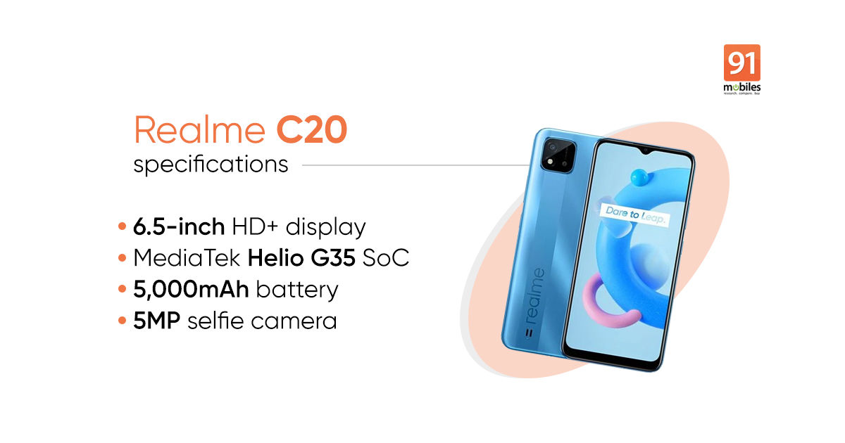 Realme C20 price, specifications, and more revealed via e ...