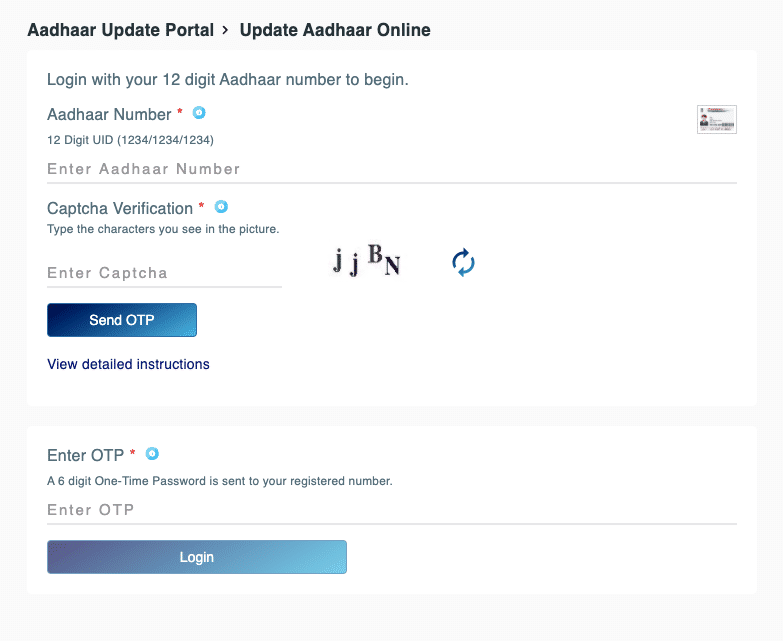 update Mobile number in Aadhaar