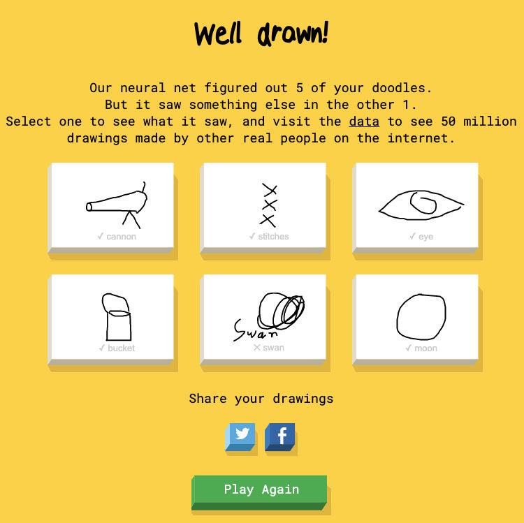 Google Doodle गेम तेज और ड्रॉ है