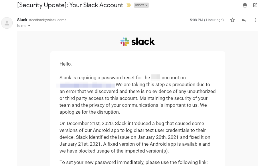 Slack users on Android should change their password right away, here's why