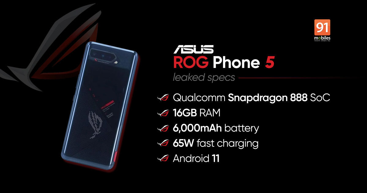 Asus ROG Phone 5 India launch timeline tipped - 91mobiles