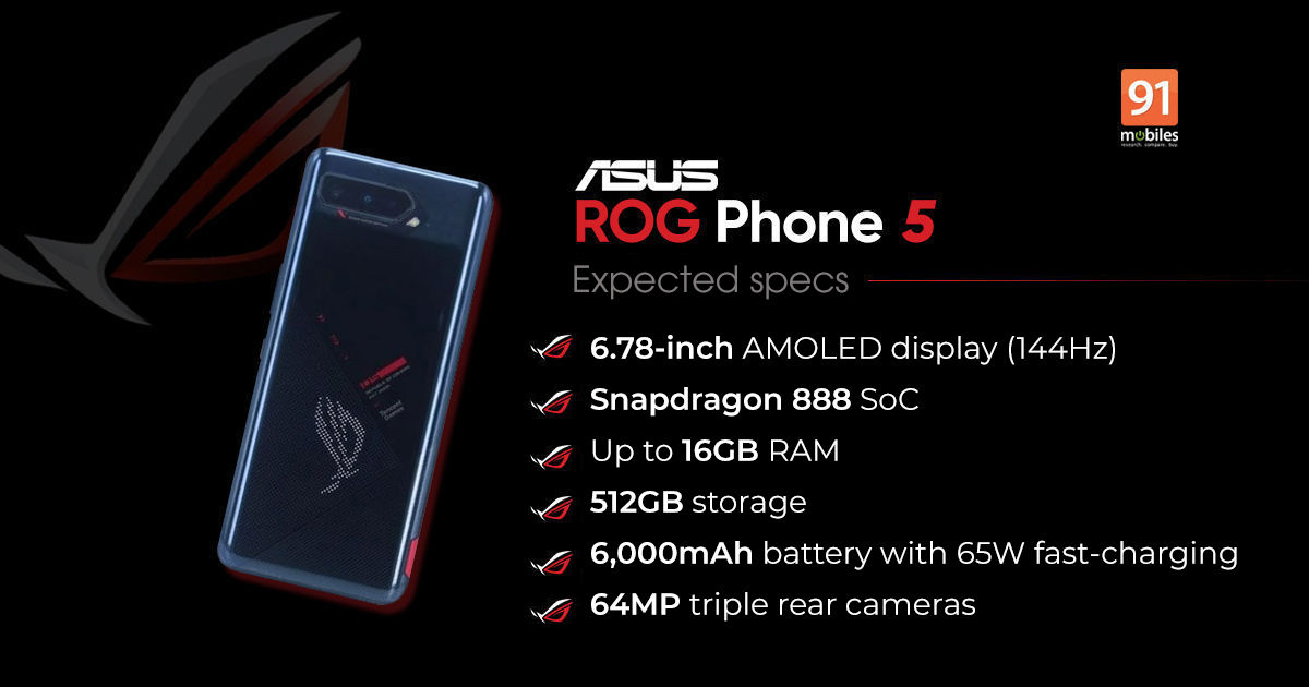 ASUS ROG Phone 5 India launch date officially announced; Flipkart availability confirmed - 91mobiles