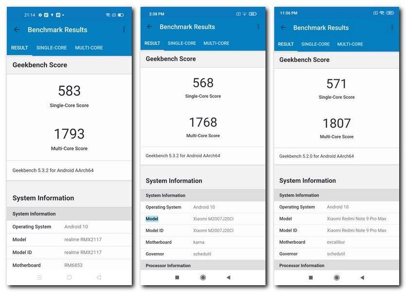 Realme Narzo 30 Pro vs POCO X3 vs Redmi Note 9 Pro Max: benchmarks and gaming comparison