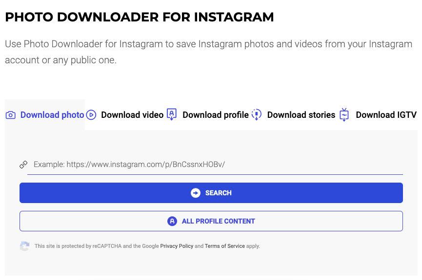 photo downloader instagram