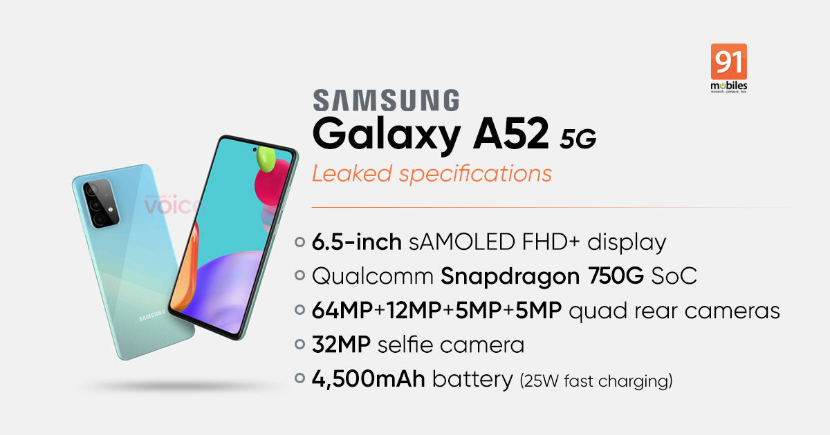 Samsung Galaxy A52 5G will launch in three variants, shows Bluetooth SIG listing - 91mobiles
